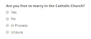 Catholic Singles Question 1