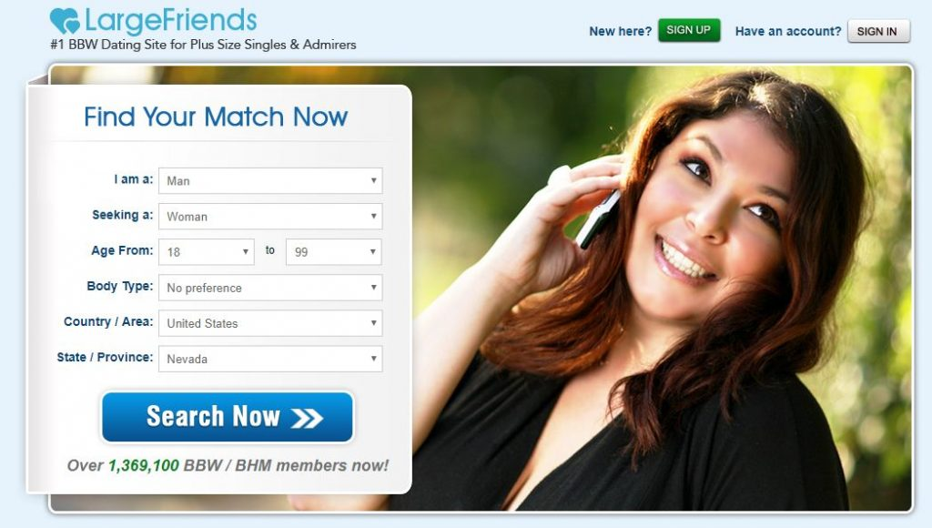 Homepage - Large Friends Dating