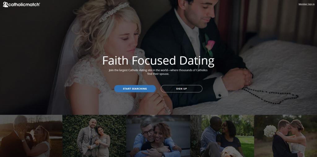 Catholic Match Homepage screenshot