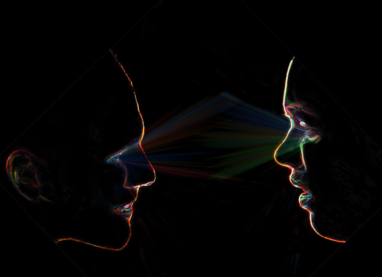 two people making eye contact