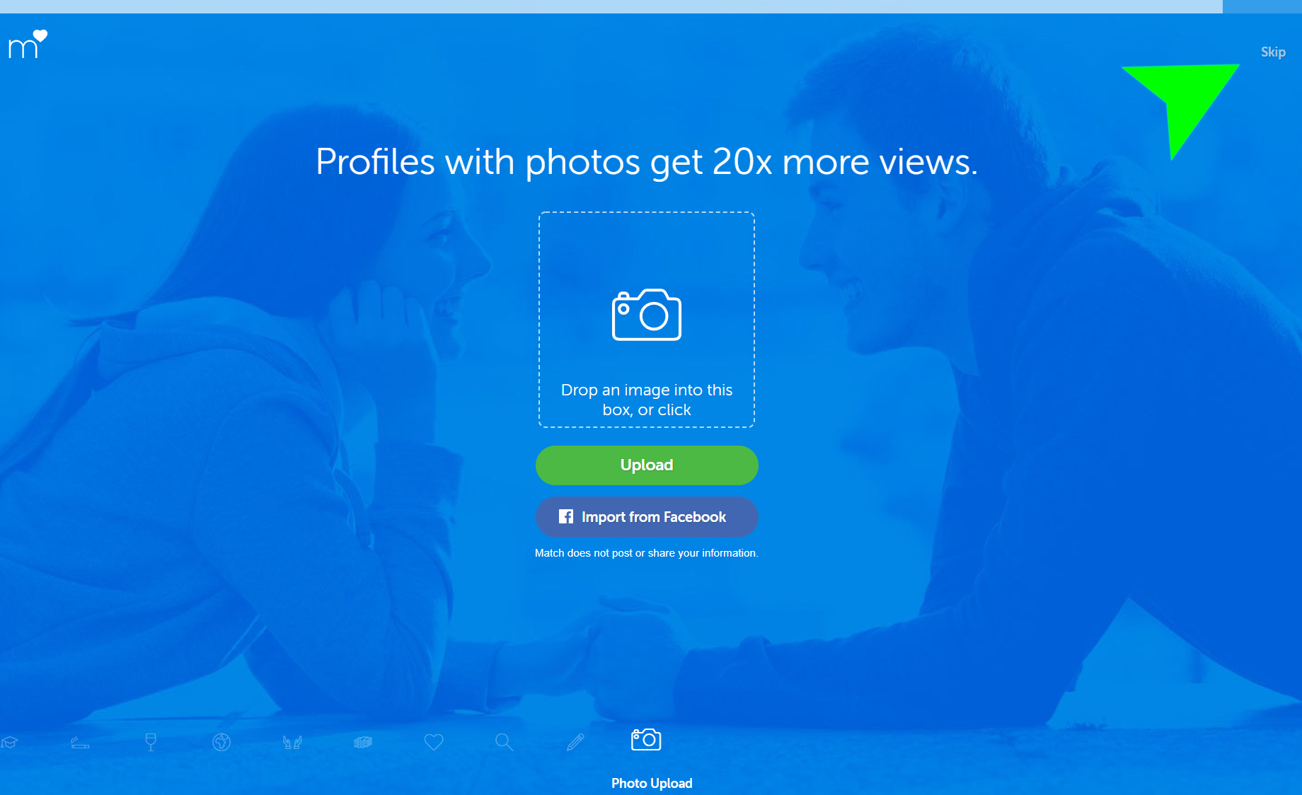 match.com review photo of sign up