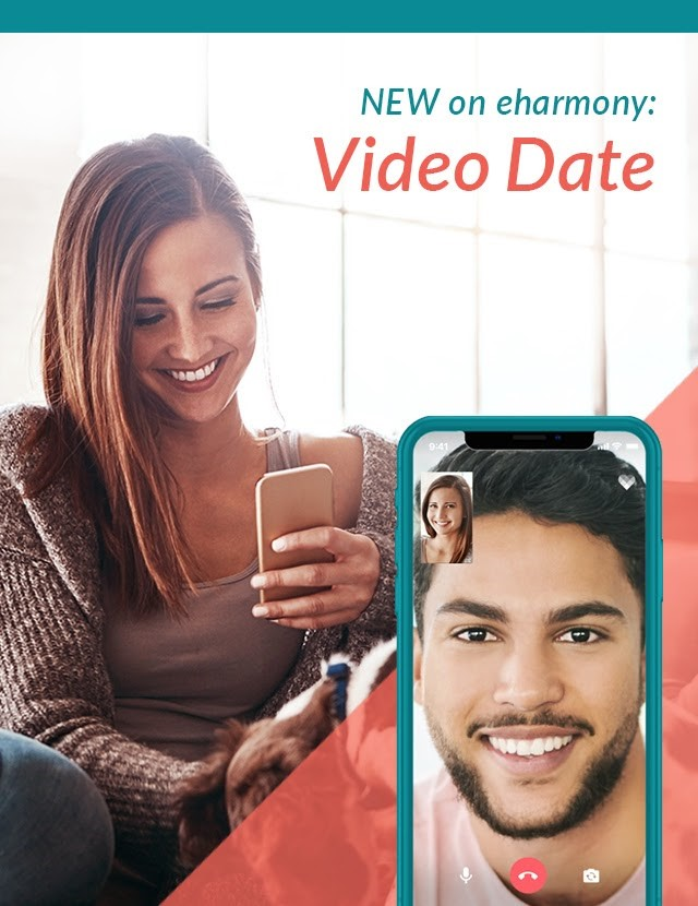 Screenshot of video date feature on eharmony