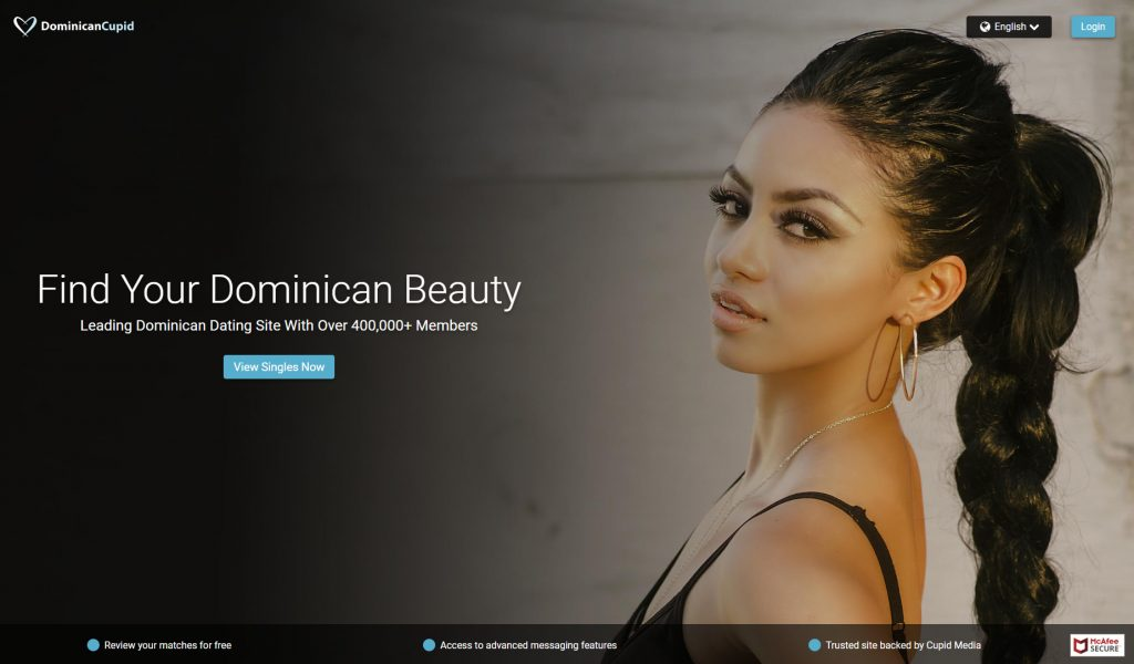Screenshot of Dominican Cupid login page