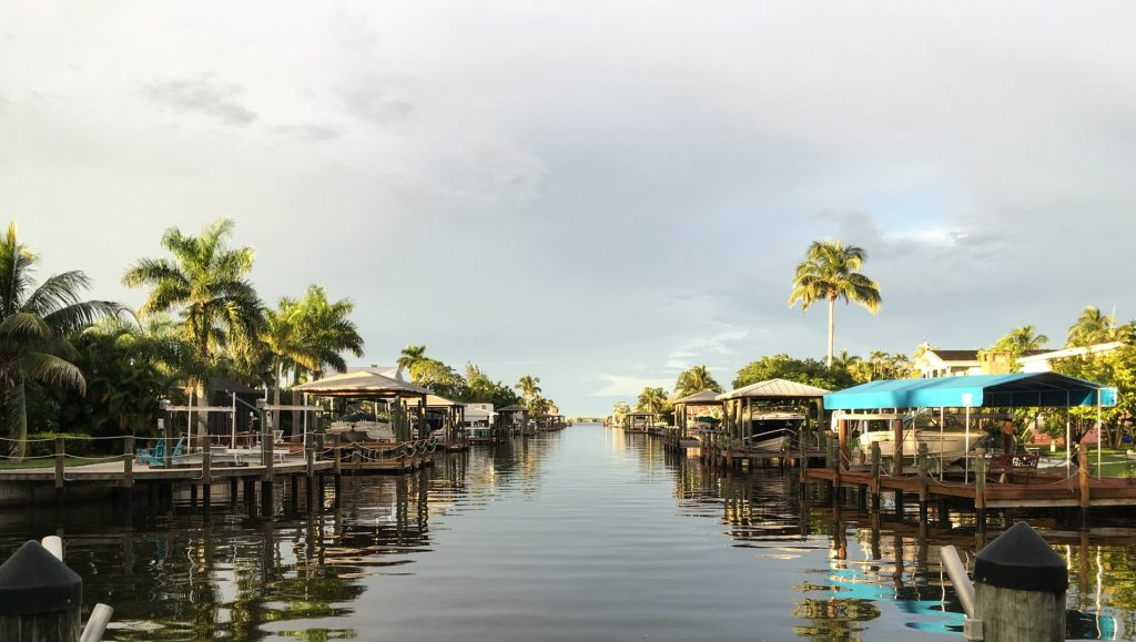 Florida waterway with boats
