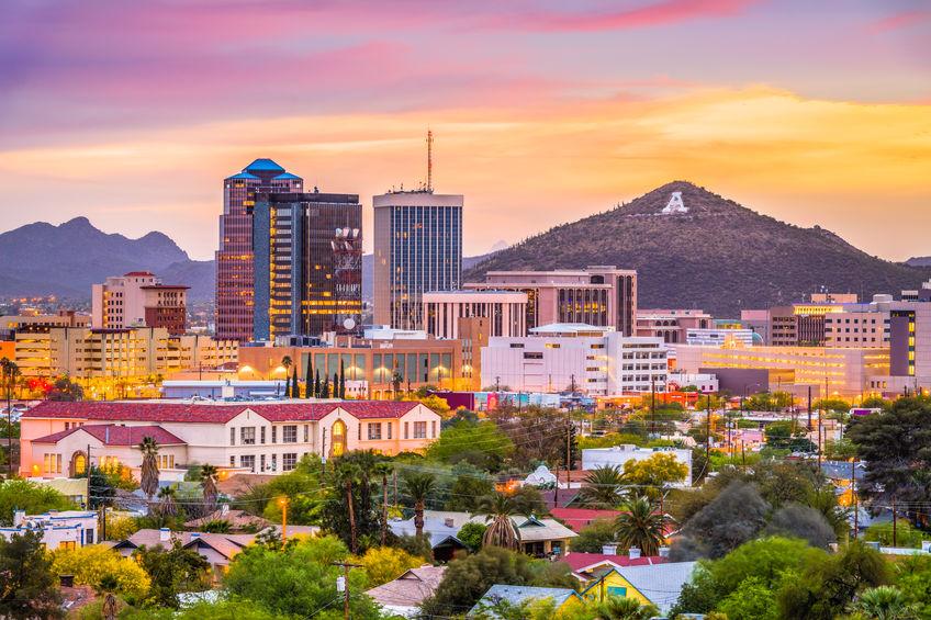 Tucson Arizona skyline during the day