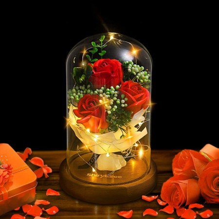 Rose in a glass jar
