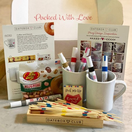 DateBox subscription box items laid out