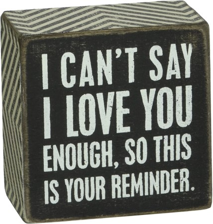 Decorative box that says I love you on it