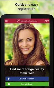 Girl on International Cupid dating app