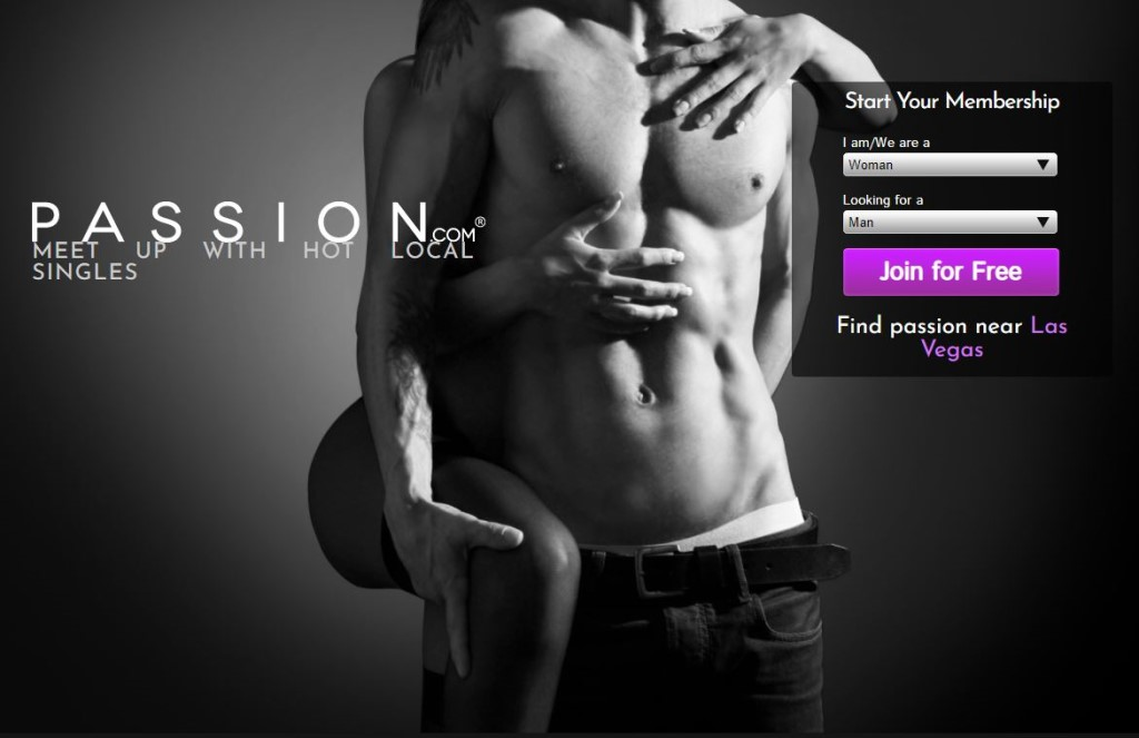 Passion homepage