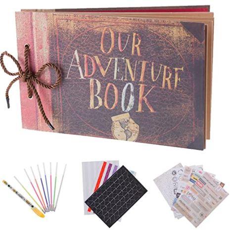 Adventure scrapbook set - anniversary gift for boyfriend