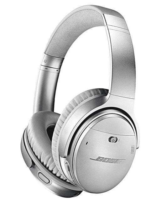 Silver Bose Quiet Comfort Headphones