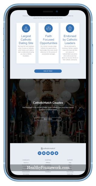 Catholic Match App Screenshot