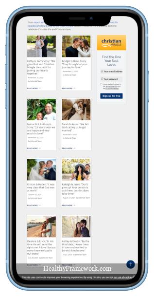 Christian Mingle App Screenshot