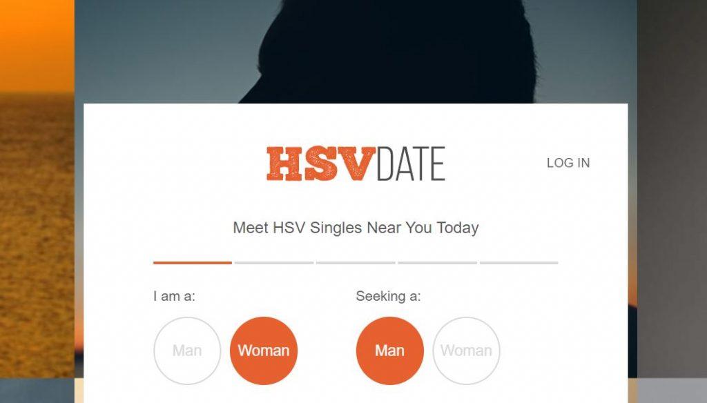 HSV Date app homepage