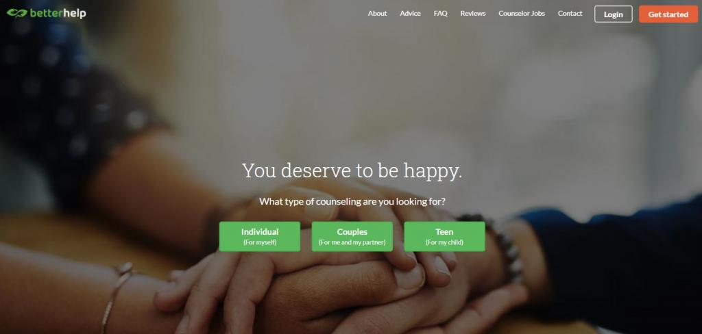 BetterHelp Homepage