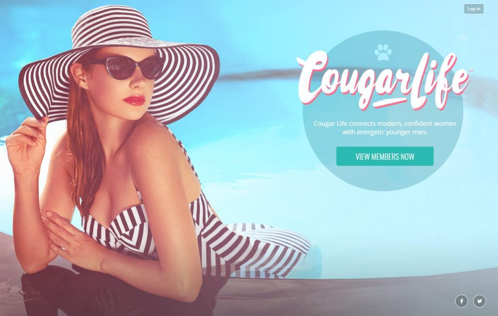 Cougar life dating app homepage