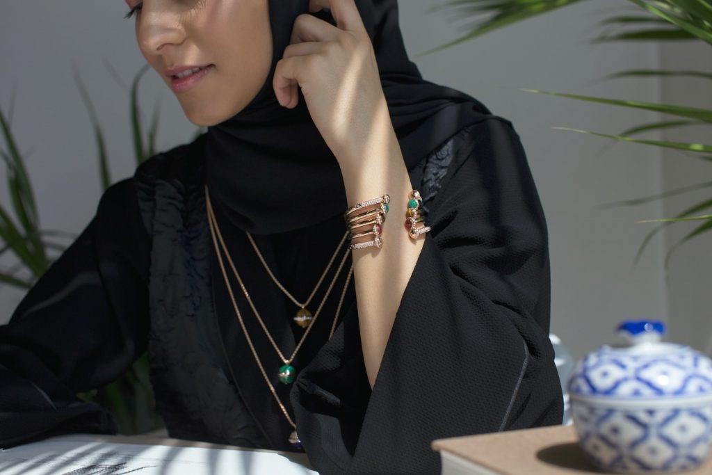 Muslim girl on the phone