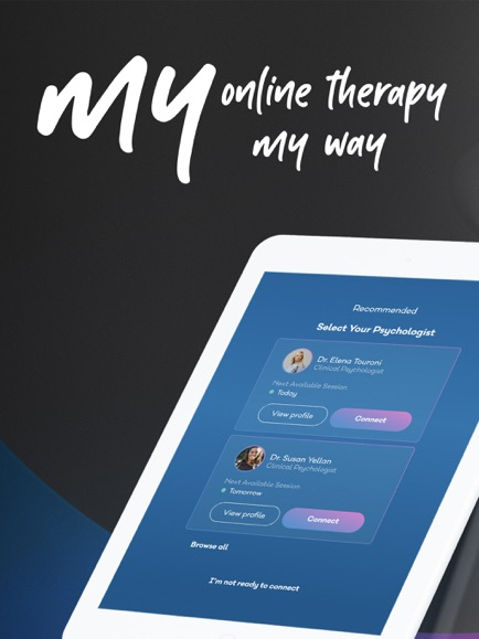 My Online Therapy App Screenshot