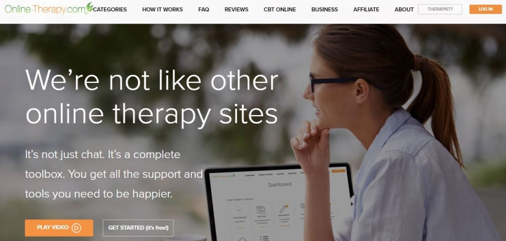 Online-therapy homepage