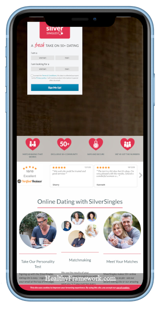Silver Singles App Screenshot