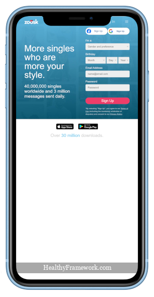 Zoosk App Screenshot