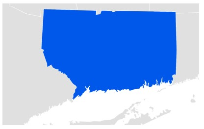 Connecticut Google Trends Data Map for Online Dating Searches