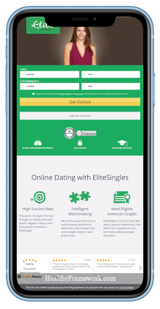 Elite Singles App Screenshot