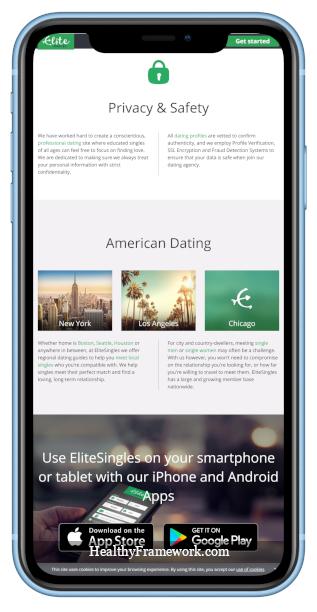Elite Singles App Screenshot