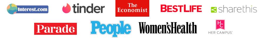 Logos of publications we've been in