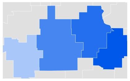 Iowa Online Dating Google Trends Map