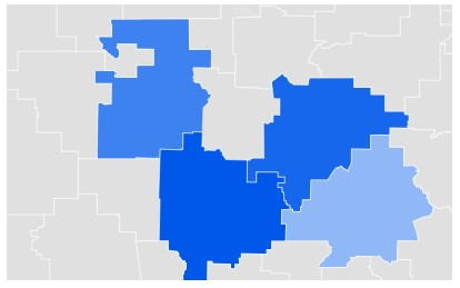 MIssouri Google Data Trends Map for Online Dating Searches