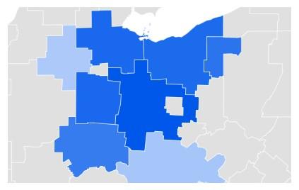Ohio Google Trends Data Map