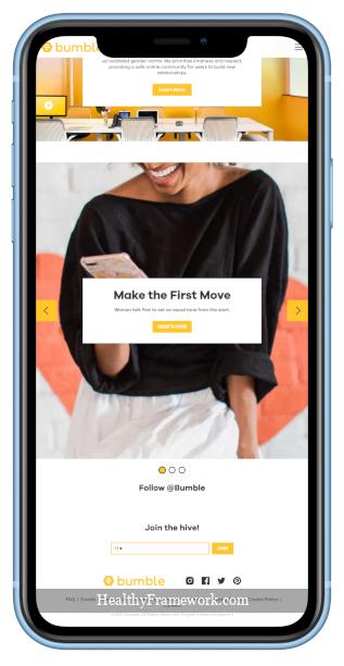 Bumble App Screenshot 1