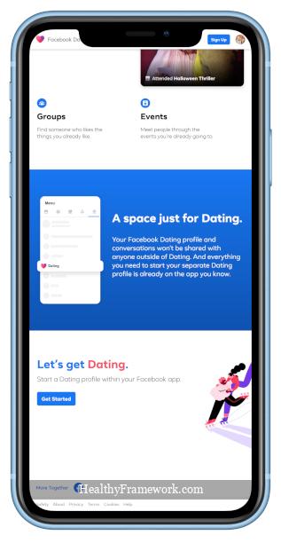 Facebook Dating App Screenshot