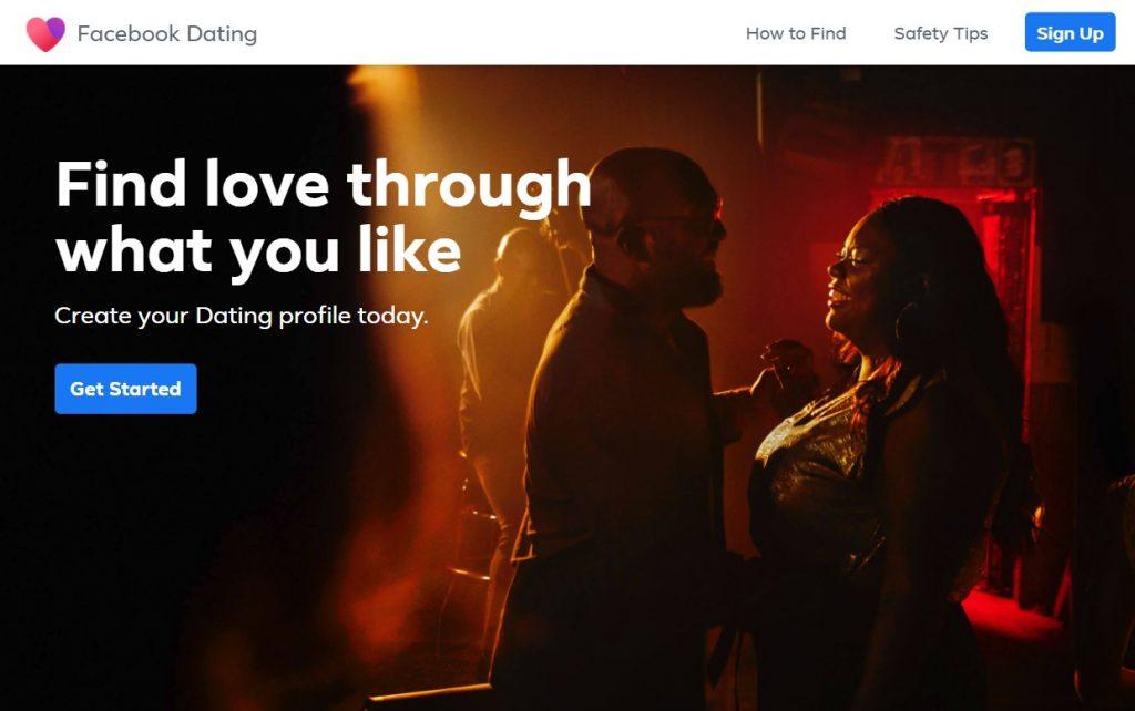 Facebook Dating Homepage