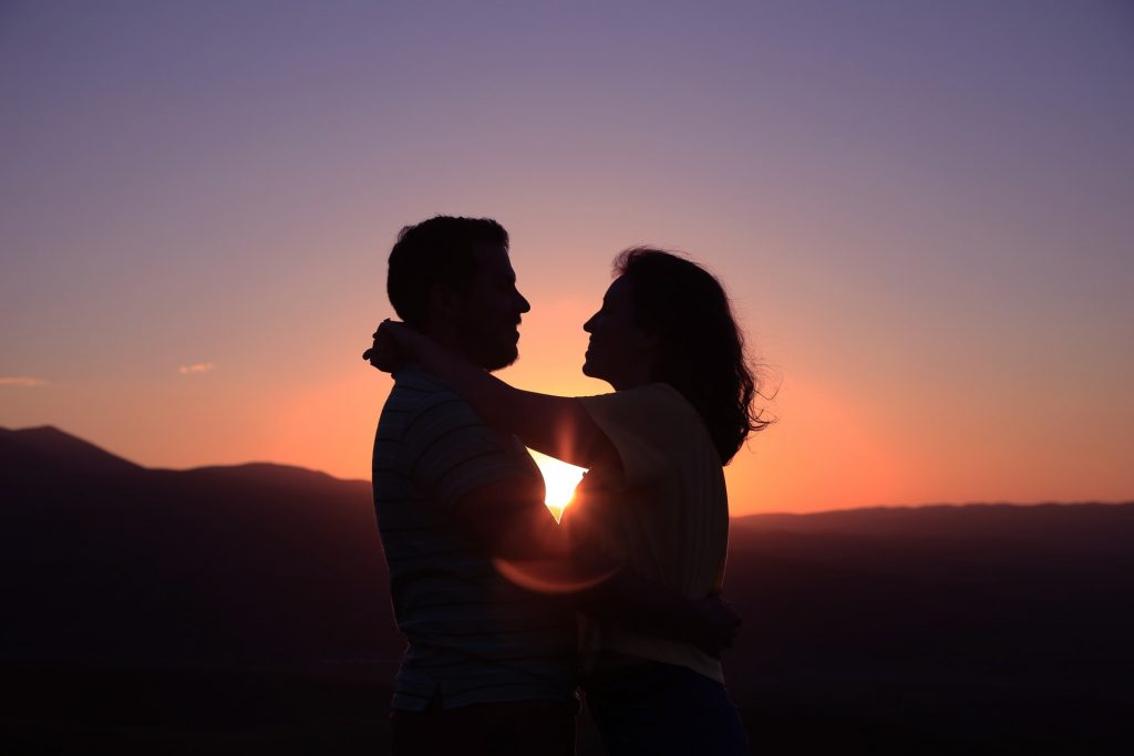 Older Happy Couple Embracing
