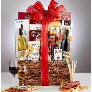 Wine Lovers Wine Gift Basket