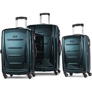 amsonite 3 PC Luggage Set in dark teal color