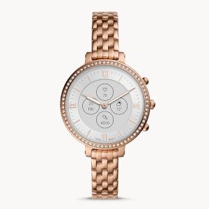 Women's Fossil Hybrid Smartwatch HR Monroe Rose-Gold Tone Stainless Steel