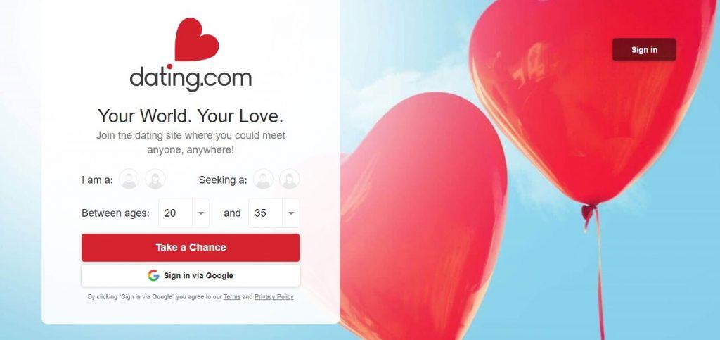 Dating.com Homepage