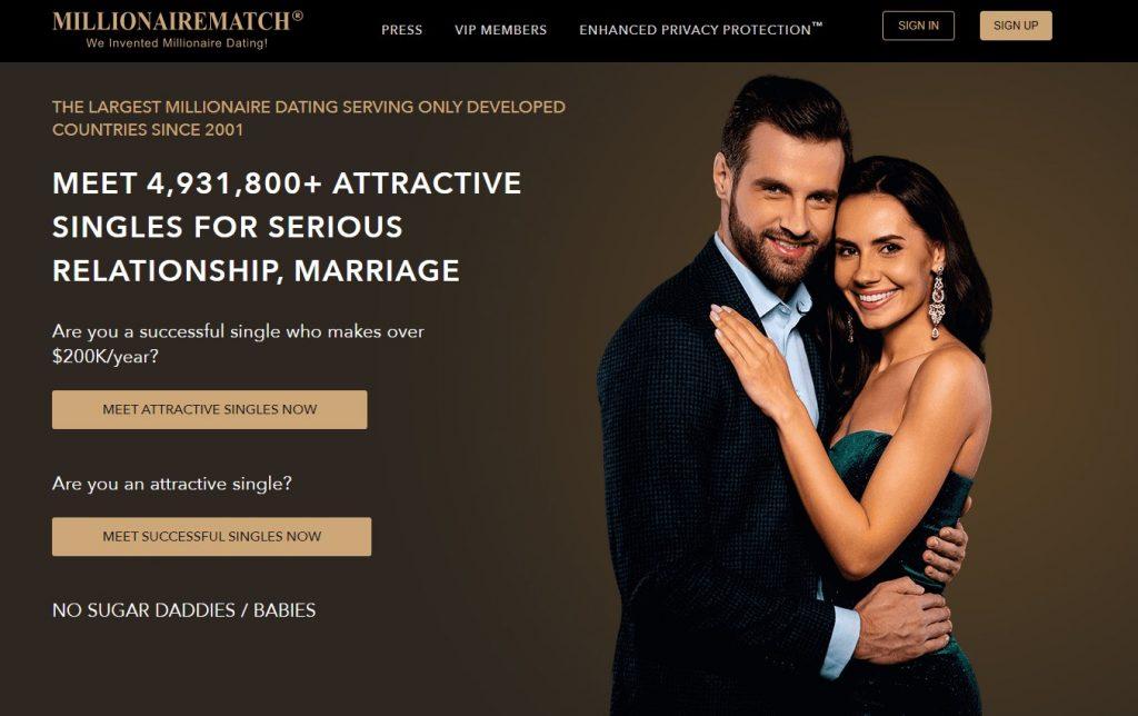 Millionaire Match Homepage