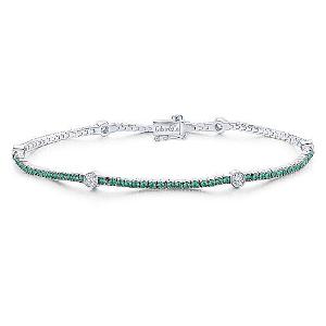 Emerald Bracelet by Gabriel & Co