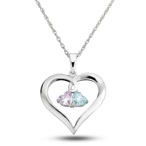 Silver Couples Necklace by Things Remembered