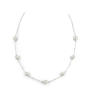 Akoya Pearl Tincup Necklace