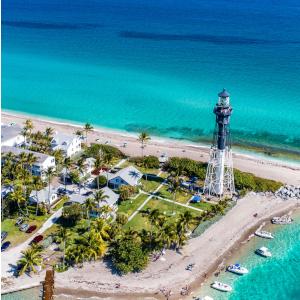 Florida beach and lighthouse