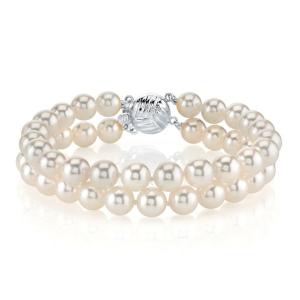 Japanese Akoya Double Pearl Bracelet