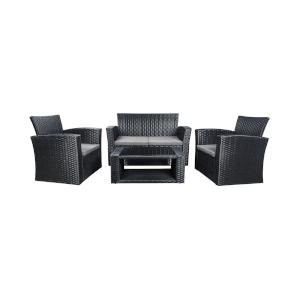outdoor sofa set in black