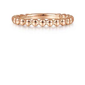 Beaded Rose Gold Ring