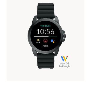 Black Silicone Smartwatch by Fossil